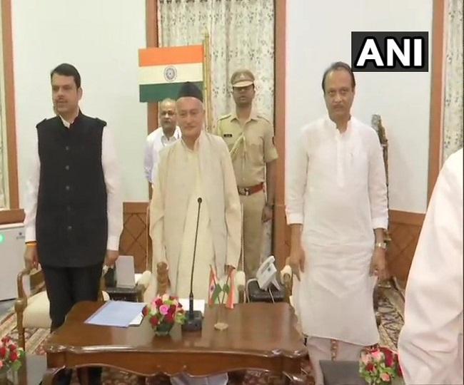 Maha Govt Formation | Fadnavis sworn in as CM, Ajit Pawar his deputy; Sharad Pawar says 'not NCP's decision'