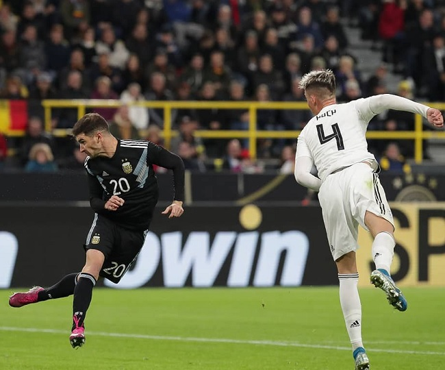 Argentina bounces back in second half to hold Germany 2-2 in international friendly