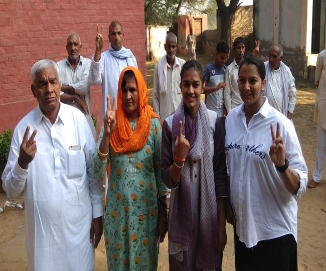 Haryana Assembly Elections 2019: Yogeshwar Dutt, Sonali Phogat, Kumari Selja among early voters