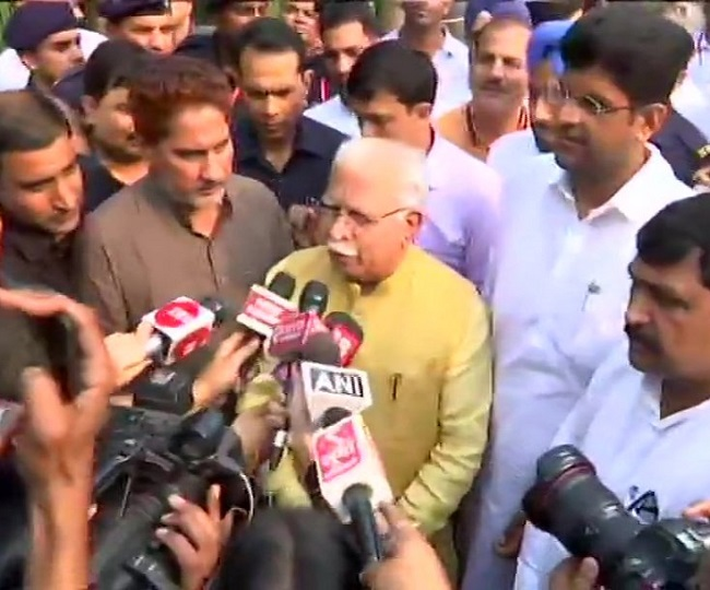 'Dushyant to be deputy,' says Khattar as he stakes claim to form govt, oath-taking today