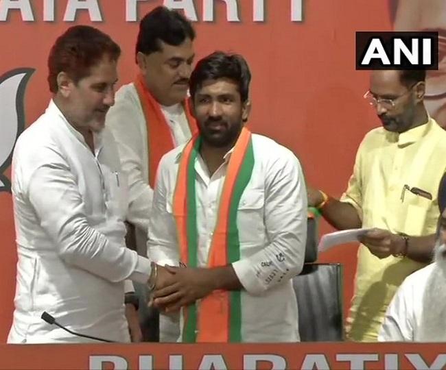 Haryana Polls: 'Inspired by PM Modi', Yogeshwar Dutt, Sandeep Singh join BJP
