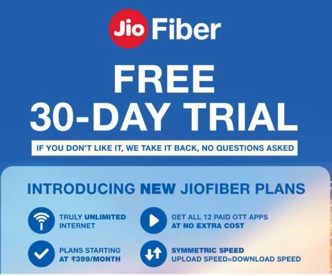 Jio Fiber broadband plans: 1 month free trial, free access ...