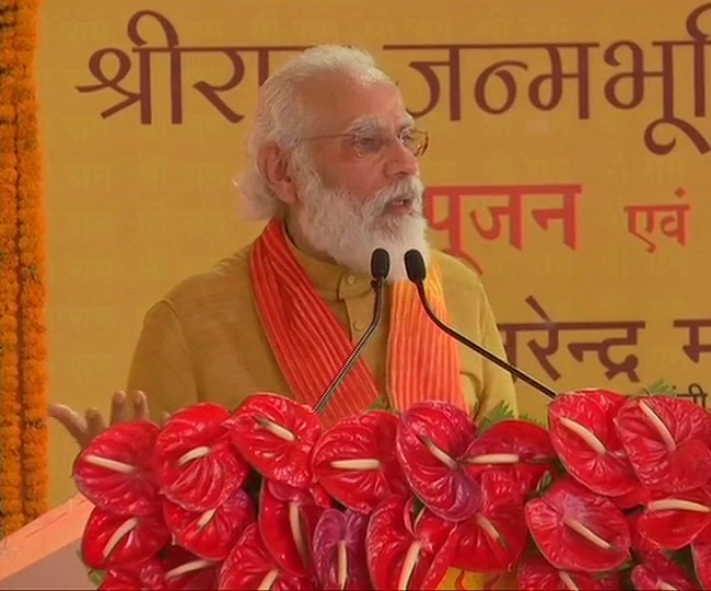 'Ram Janmabhoomi liberated today': PM Modi likens Ram Temple 'bhoomi pujan' to Independence Day