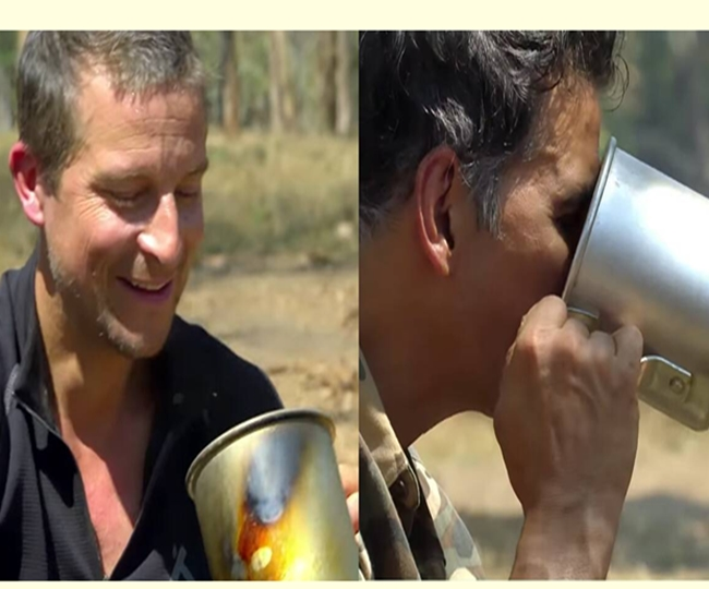 Into the Wilds with Bear Grylls:  Akshay Kumar drinks 'elephant poop tea' in the new video  Watch