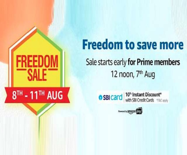 Amazon Freedom Sale 2020 from August 8-11; check discounts, bank offers and best deals here