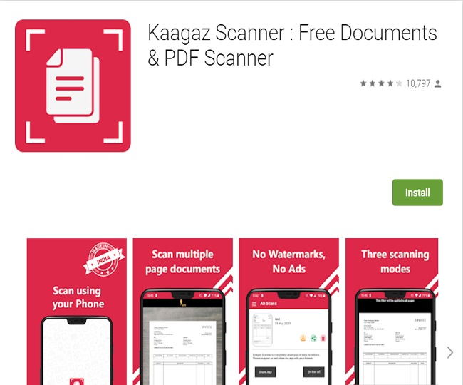 'Alternative to CamScanner': IITians find Kaagaz Scanner as part of the Atma Nirbhar App Challenge