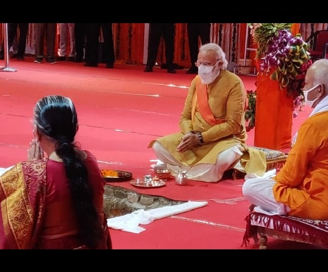 Ram Mandir Bhoomi Pujan: PM Modi lays silver brick for Ayodhya temple, says 'wait of centuries has ended'