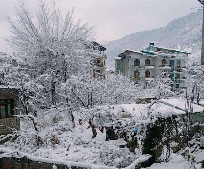 In Pics: Heavy snowfall in Kufri, Kalpa, Manali accentuate Himachal's beauty ahead of New Year's Eve