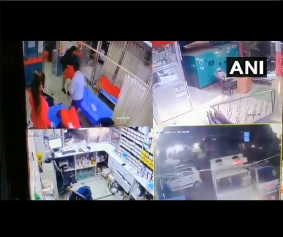 Caught on Camera: Gurugram man rams truck inside hospital over tussle on treatment of family members