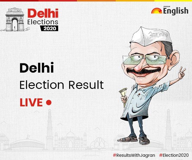Delhi Election Results 2020: Kejriwal's AAP cruises past majority mark, set to retain Delhi for third time