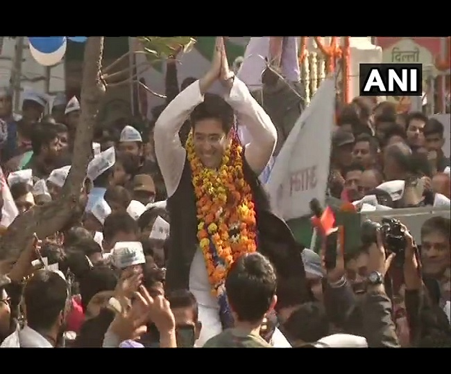 Rajinder Nagar Election Results 2020   AAP's Raghav Chadha emerges triumph by over 20,000 votes