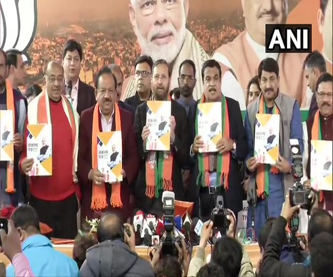 'Priority to tackle air and water pollution': Nitin Gadkari as BJP releases manifesto for Delhi Assembly polls
