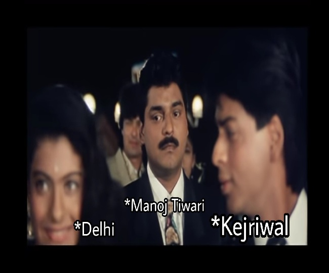 Delhi Assembly Elections 2020 | BJP comes with a savage reply after AAP taunts Manoj Tiwari with Baazigar meme