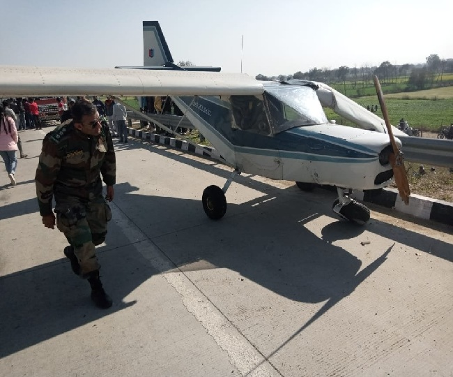 NCC training aircraft makes emergency landing outside Delhi