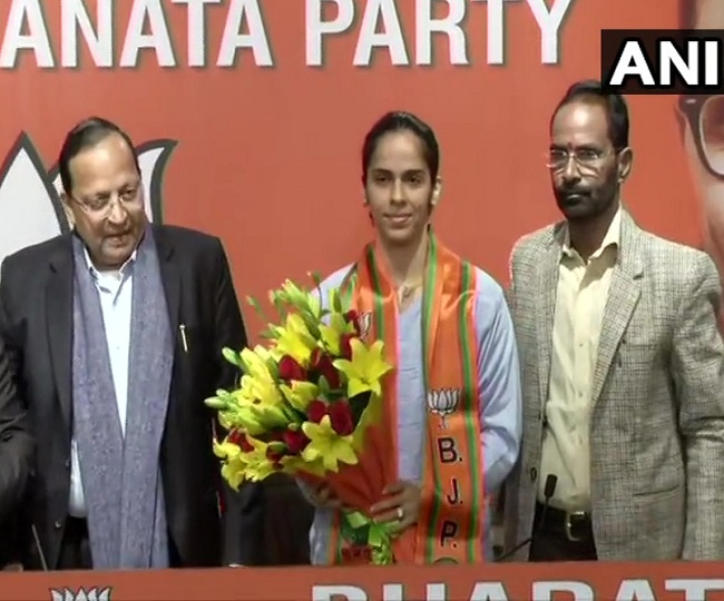 Saina Nehwal, badminton star and Olympic medal winner, joins BJP