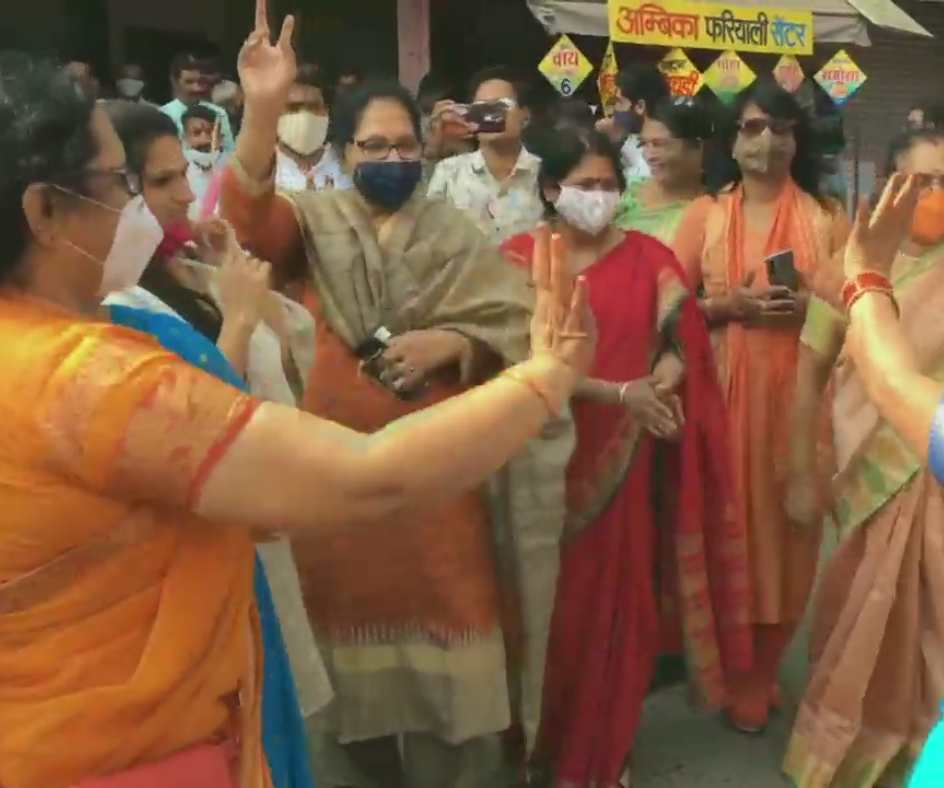 MP By-polls: BJP workers and supporters celebrate outside the party office in Indore |See Photos