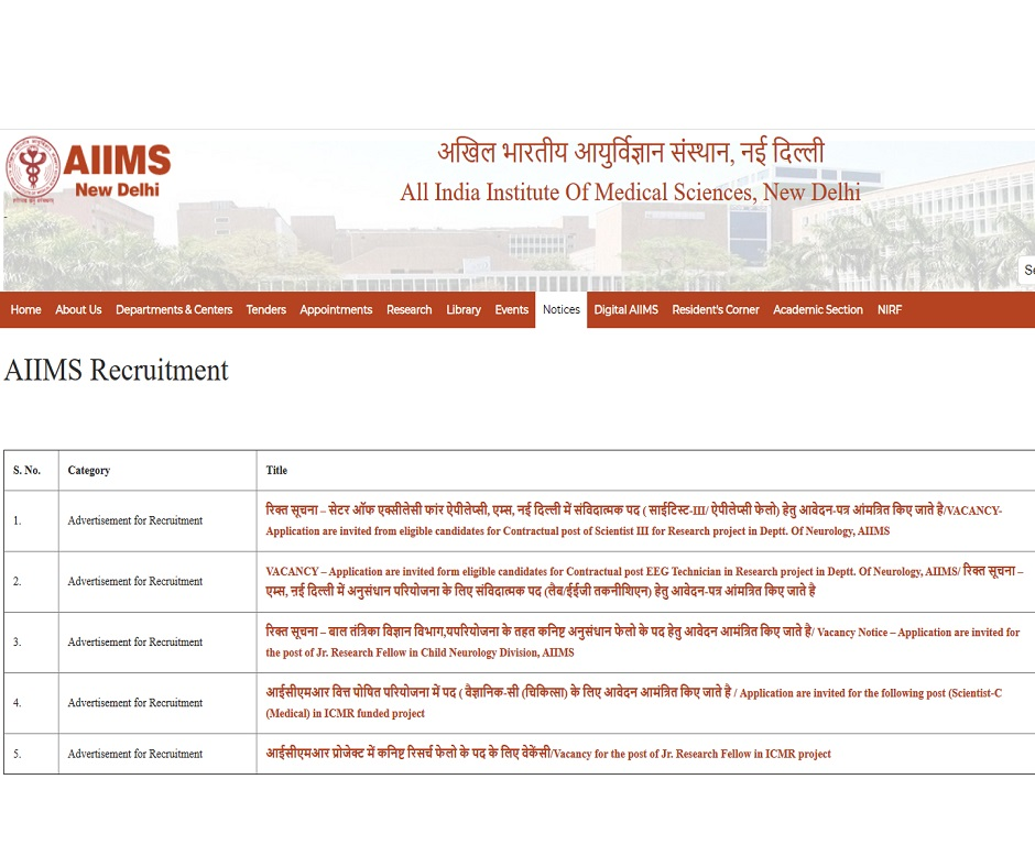 AIIMS Delhi Recruitment 2020: AIIMS Delhi extends application date; know how to apply for 214 posts