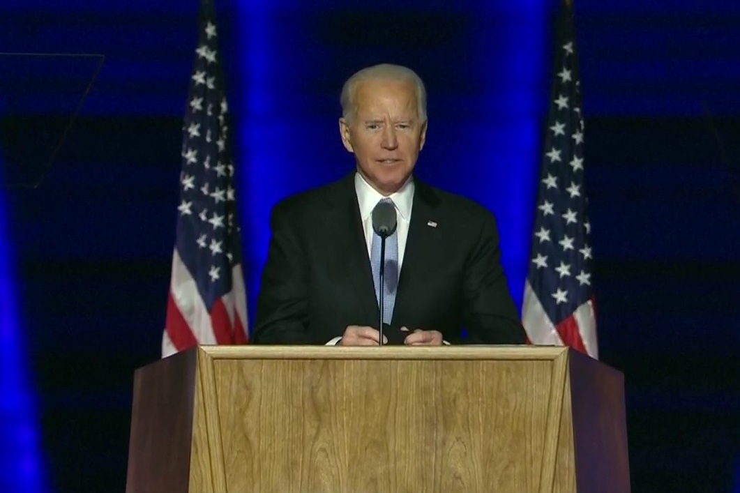 'Time to heal America': In victory speech, Joe Biden vows to be 'President who seeks to unify'