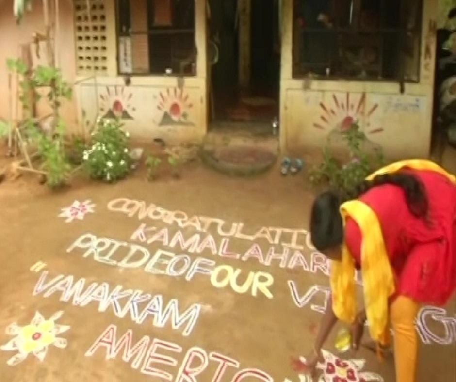 Women in Vice President-elect Kamala Harris' native village in India celebrates her victory
