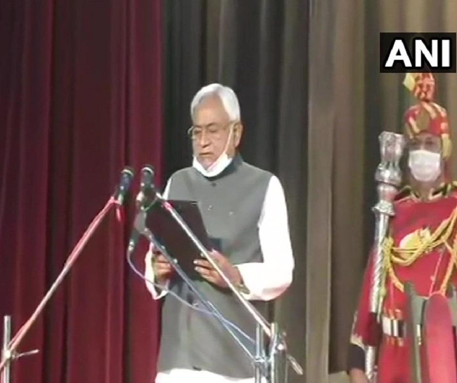 Nitish Kumar becomes Bihar CM for 4th consecutive term; BJP's Tarkishore, Renu Devi his new deputies