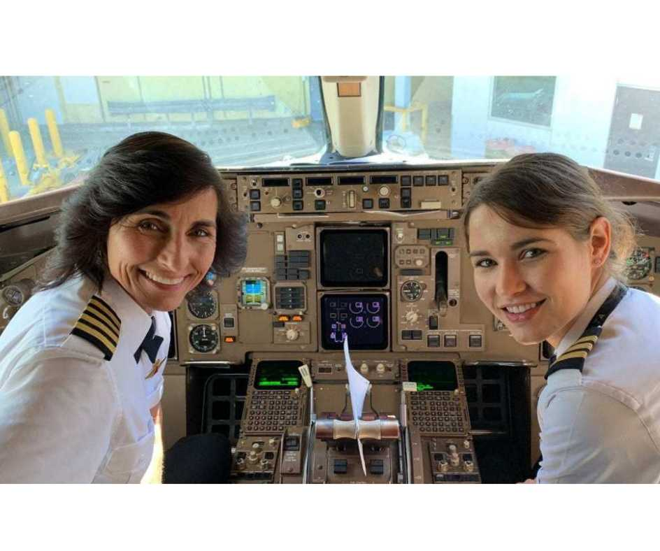 Mother daughter script history by piloting commercial plane together