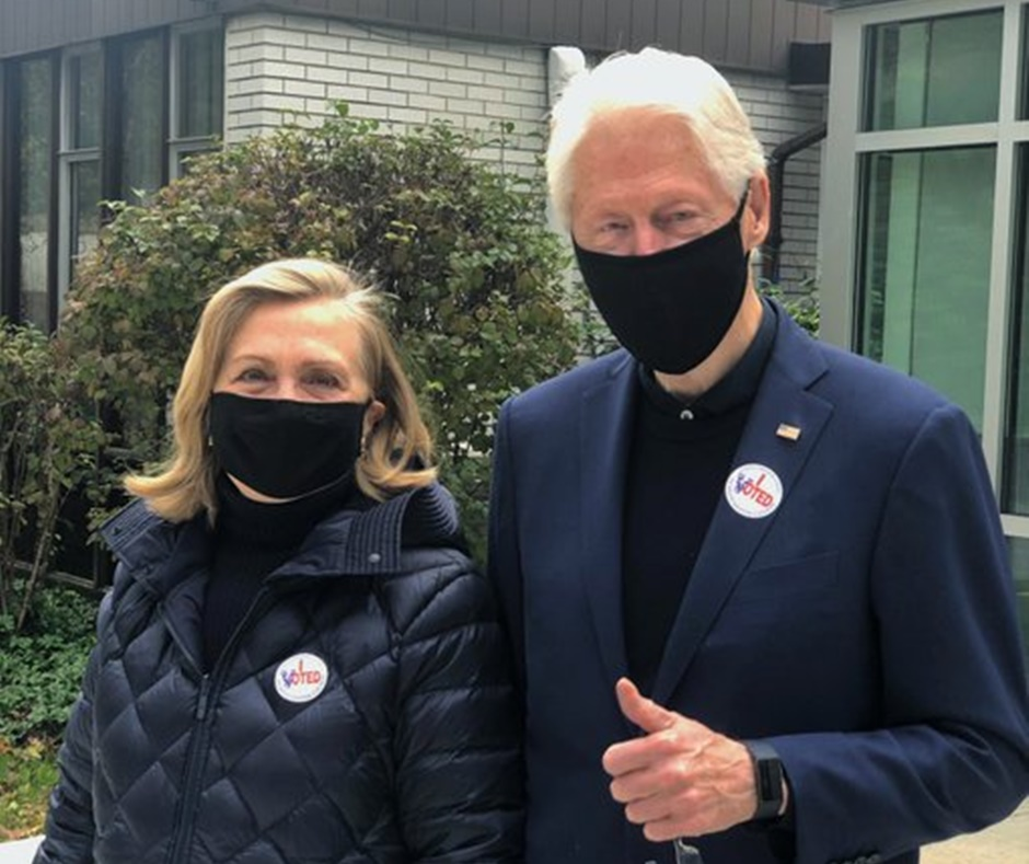 US Presidential Elections 2020: Bill Clinton and Hillary Clinton cast their votes in Westchester County | Highlights