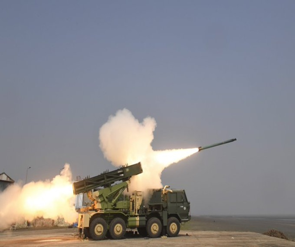 Boost to armed forces as India test-fires advanced version of Pinaka Rocket System