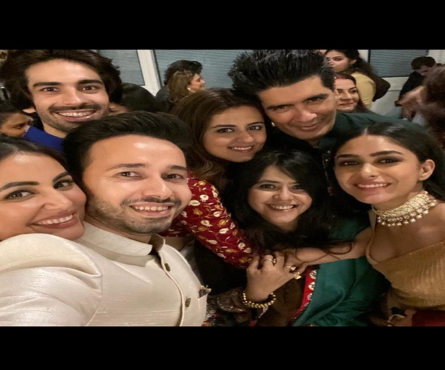 Mouni Roy, Mrunal Thakur, Karishma Tanna, Hina Khan, others add glitz & glamour to Ekta Kapoor's low-key Diwali bash | See Pics