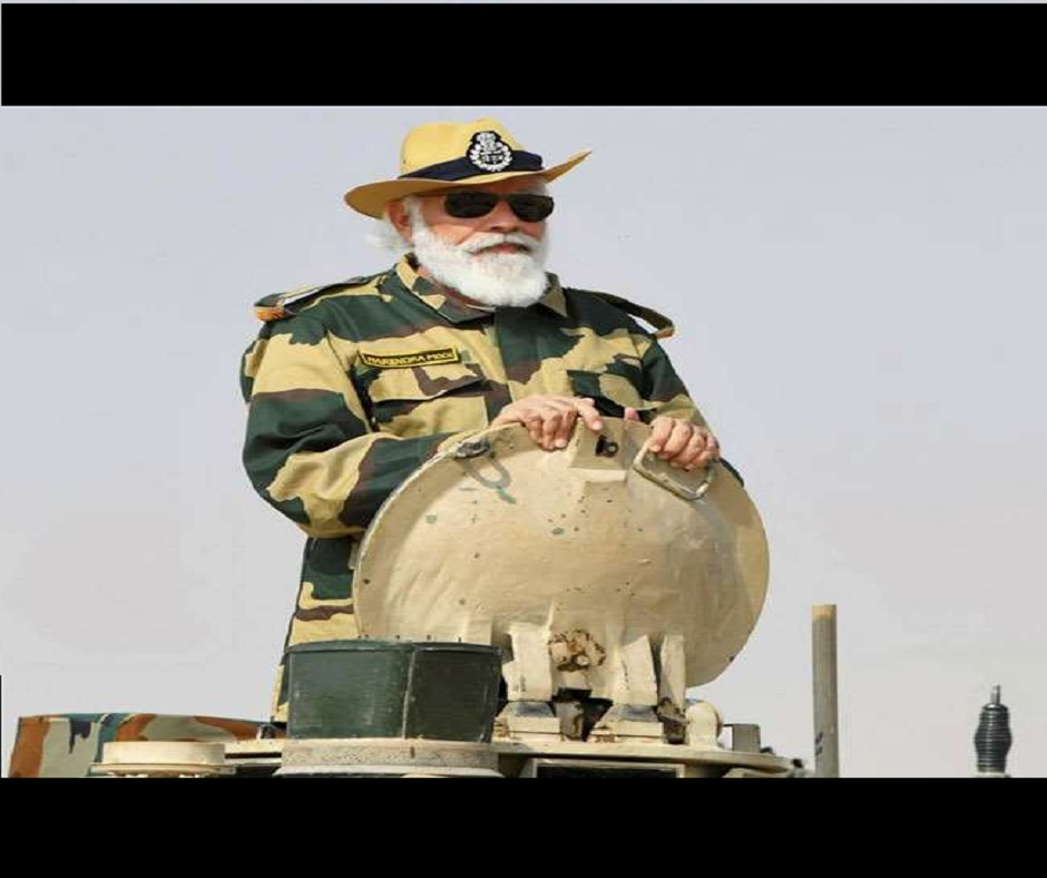 Diwali 2020: PM Modi rides tank, distributes sweets among soldiers in Jaisalmer's Longewala | WATCH