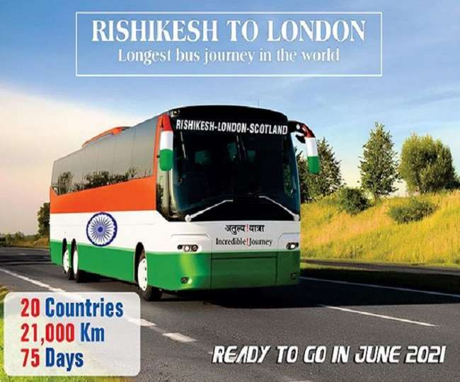 WHAT! This bus will take you to 21,000 km trip from Rishikesh to London; Here's all you need to know