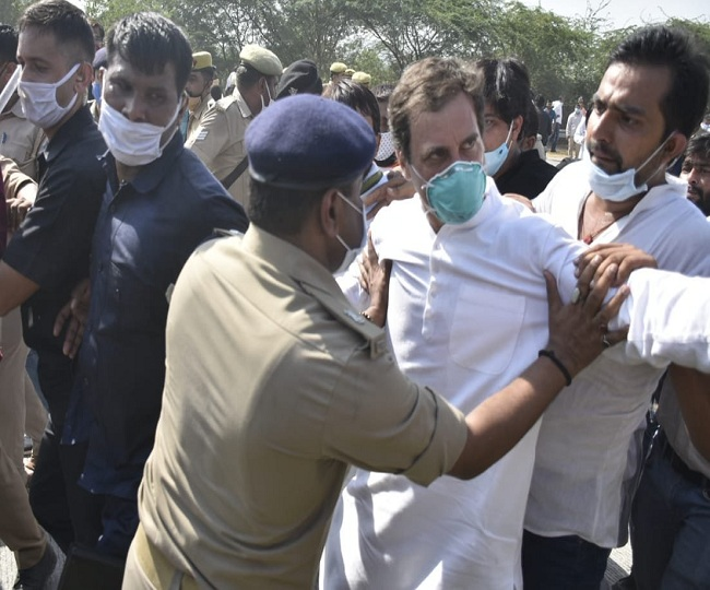 Hathras Case Updates: Rahul Gandhi arrested by police after march to victim's family stopped at Yamuna Expressway