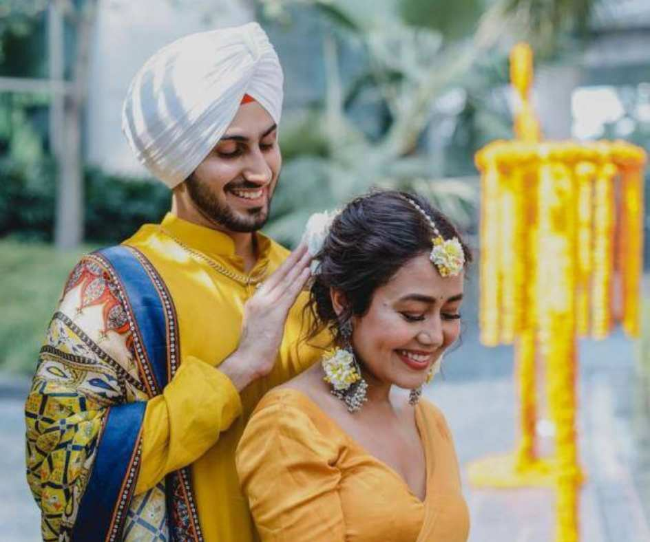 Nehu Da Vyah: Neha Kakkar and Rohanpreet Singh's Haldi ceremony pictures are out and it just can't go unnoticed | See photos