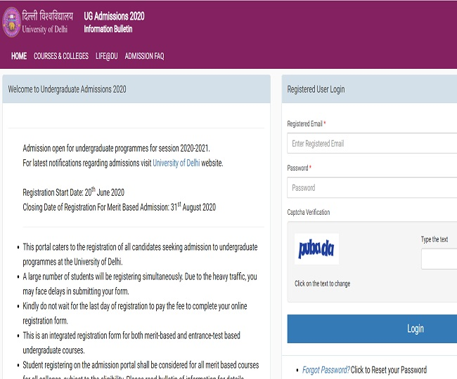 DU Admission 2020 Begins: Check online process, documents required, important dates and other details