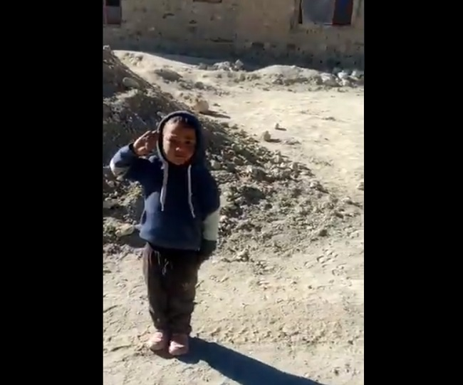 Chushul boy's salute to ITBP troops with 'high josh' is winning the internet | Watch video