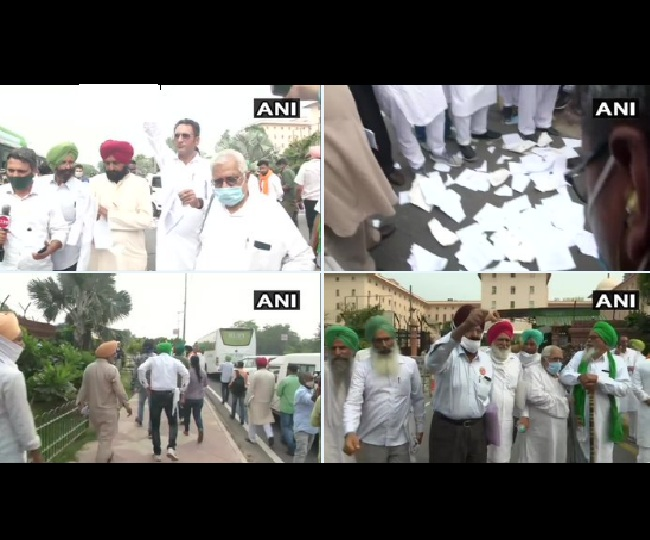 Protest Over Farm Laws: Punjab farmers boycott meeting over 'missing' minister, tear copies of new laws