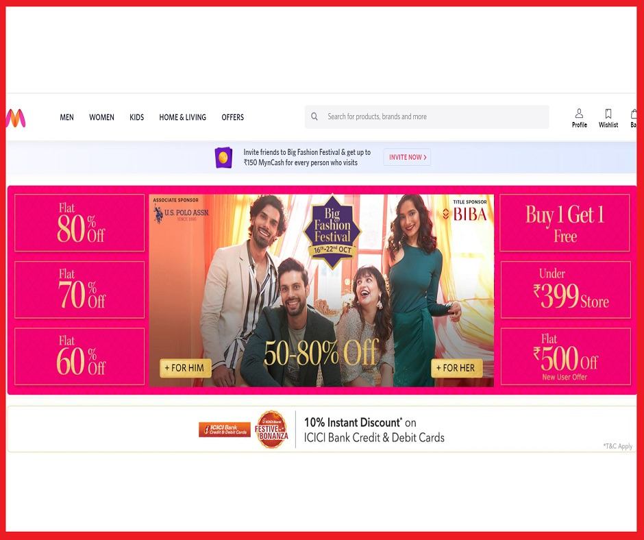 Myntra Big Fashion Festival Sale: Score up to 80% off on Women, Men and kids branded clothes