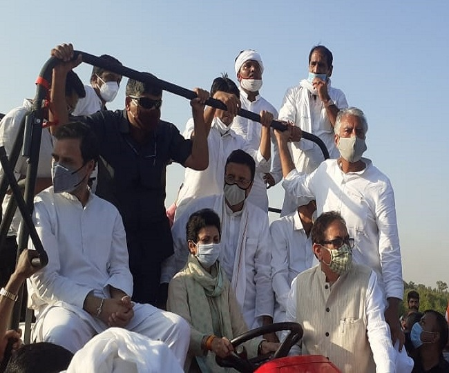 Farmers Protest: Rahul Gandhi allowed to enter Haryana after brief stoppage at border