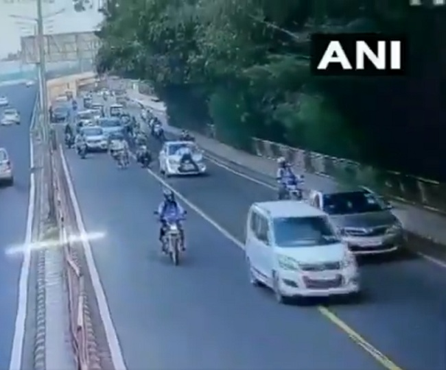 Caught on Camera: Delhi Traffic Police personnel dragged on car bonnet, falls off; accused arrested