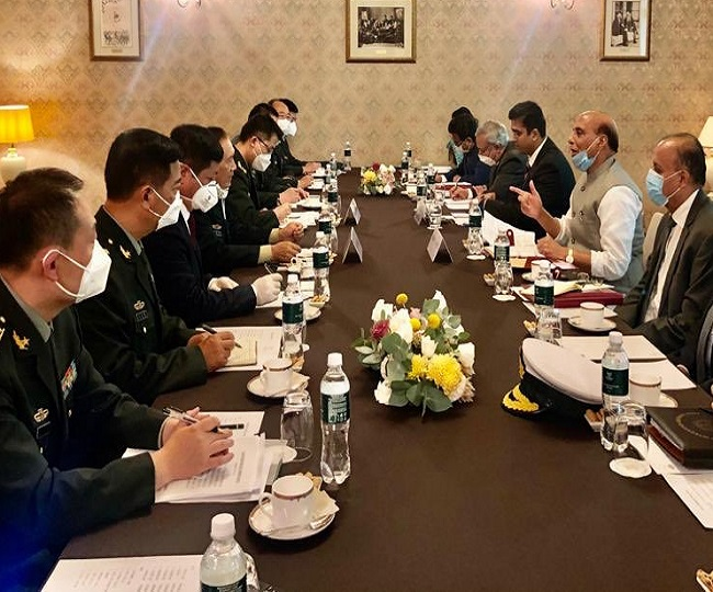 Rajnath Singh meets Chinese defence minister in Russia amid border tensions