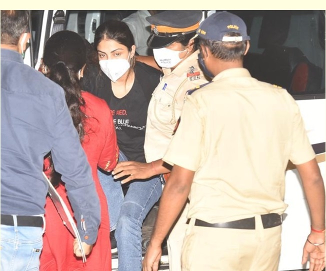 Rhea Chakraborty lodged in cell next to Indrani Mukherjee; no bed, pillow to sleep