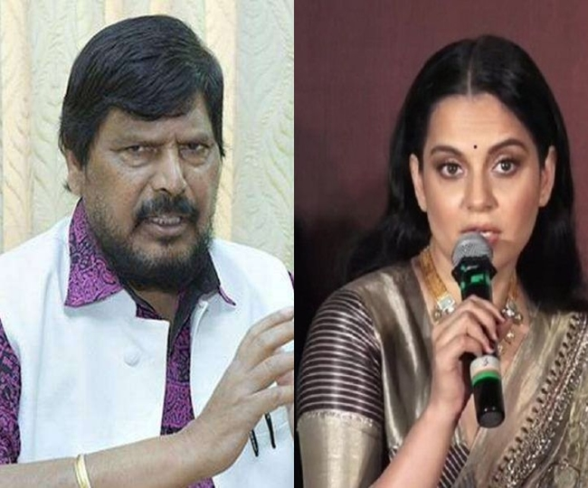 Kangana has no intentions to join politics, says Union Minister Ramdas Athawale after meeting the actor