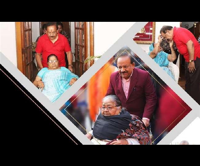 Health Minister Dr Harsh Vardhan's mother passes away at 89; minister donates her eyes at AIIMS
