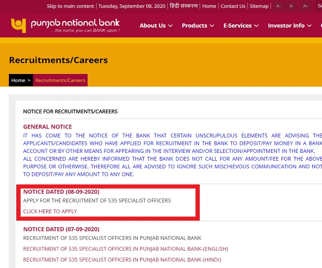 PNB SO Recruitment 2020: Over 500 vacancies for managerial post, here's how you can apply