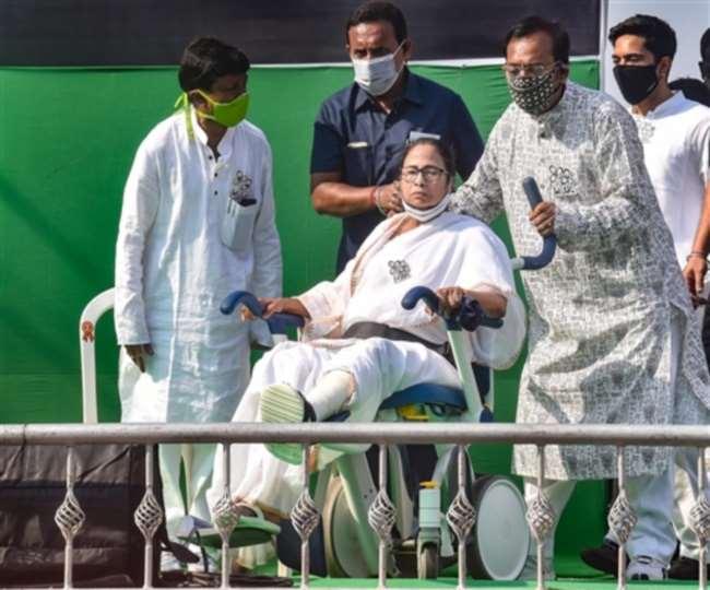 West Bengal Polls: War of words breaks out between BJP, TMC over video showing Mamata Banerjee shaking injured leg