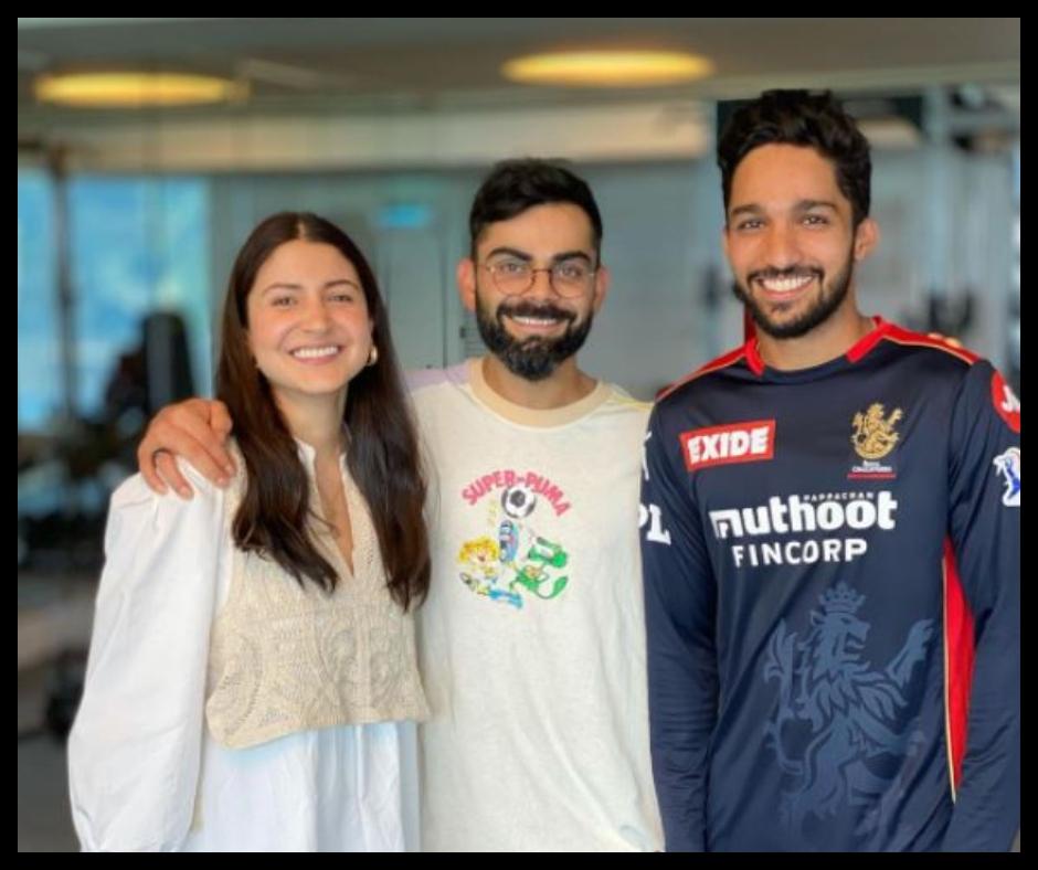 IPL 2021: Anushka Sharma-Virat Kohli get clicked with fan-boy Mohammed Azharuddeen