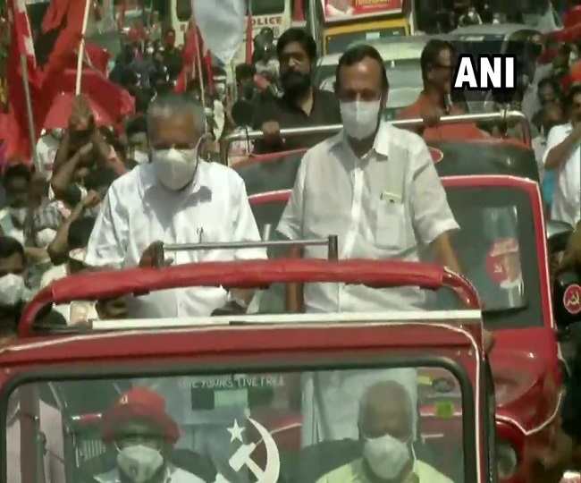 Assembly Elections: Kerala Chief Minister Pinarayi Vijayan holds roadshow in Kannur | As it happened
