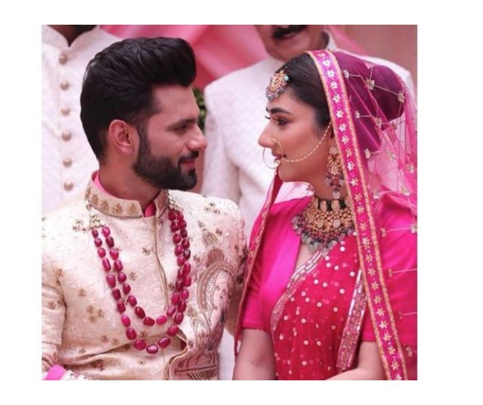 Disha Parmar-Rahul Vaidya's pic dressed as bride and groom goes viral, leaves fans confused