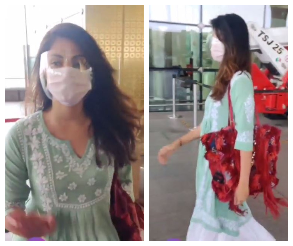 Rhea Chakraborty spotted at airport; Sushant Singh Rajput's fans troll paps for paying attention to her