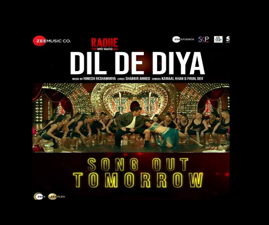 Radhe Dil De Diya: Salman Khan shares teaser; full song to be released tomorrow | Watch