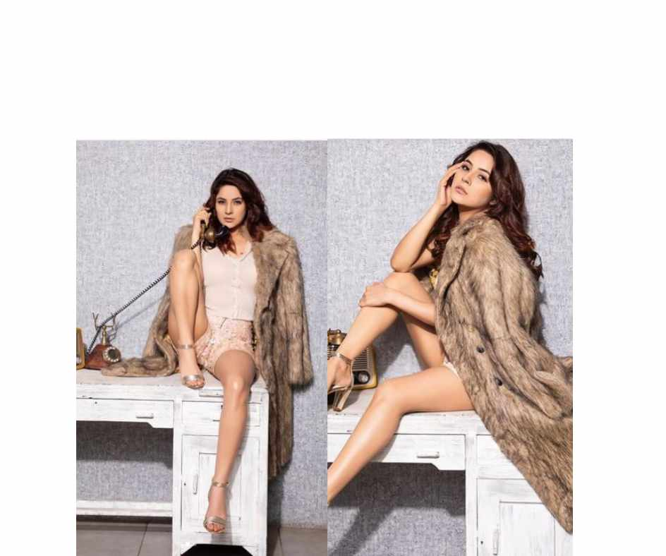 Shehnaaz Gill poses in beige bodycon dress, fans call her 'definition of hotness and perfection'